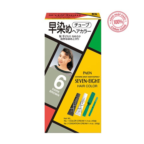 Nhuộm phủ bạc SEVEN EIGHT Hair Color 6 - 40g + 40g- Nhật Bản