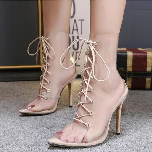 Giày boot cao gót trong suốt cột dây mũi nhọn - 5796475 , 12275098 , 15_12275098 , 760000 , Giay-boot-cao-got-trong-suot-cot-day-mui-nhon-15_12275098 , sendo.vn , Giày boot cao gót trong suốt cột dây mũi nhọn