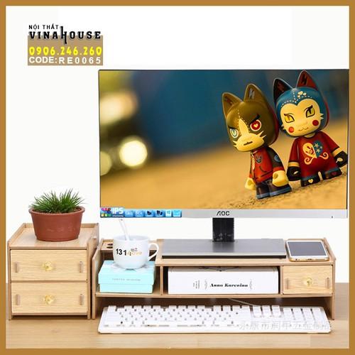 Kệ màn hình - Kệ Màn hình gỗ - Kệ màn hình có ngăn