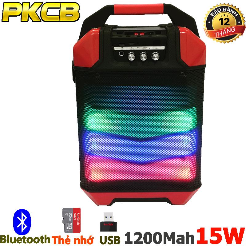 Loa Kéo bluetooth chính hãng siêu bass PKCB 60 đèn LED Cao cấp 2