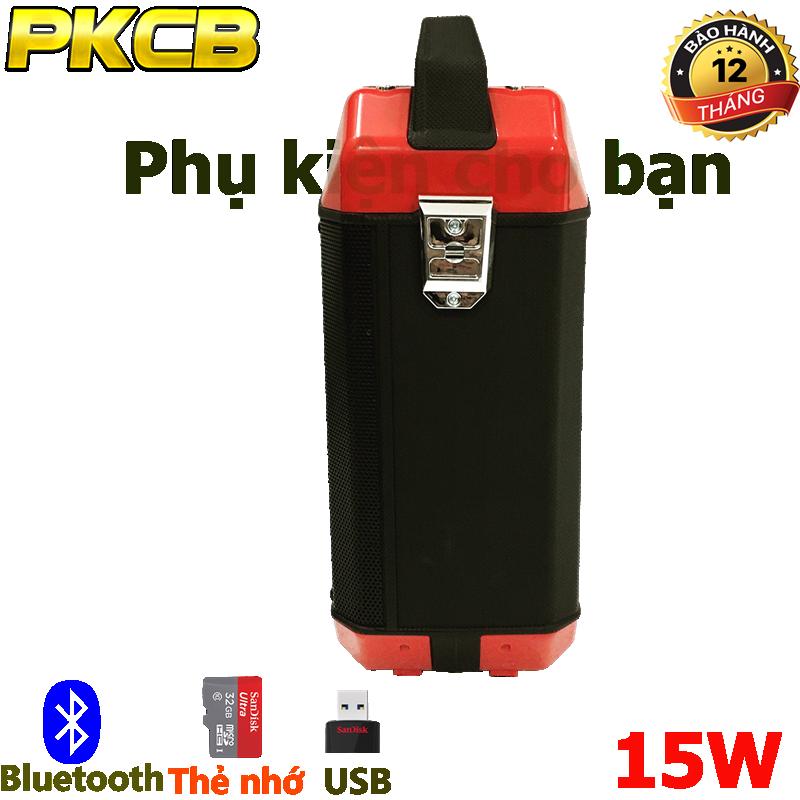 Loa Kéo bluetooth chính hãng siêu bass PKCB 60 đèn LED Cao cấp 7