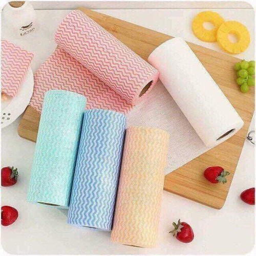 Combo 3 Cuộn giấy vải không dệt lau đa năng