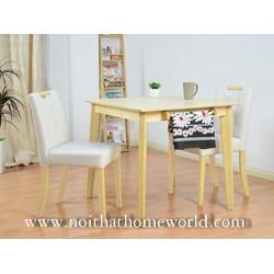 Bộ bàn 2 ghế nhỏ gọn HW363- Gỗ cao su nệm bọc giả da- Bảo hành 1 năm