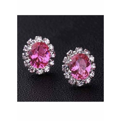 Bông tai sang trọng đính đá hồng hàng nhập khẩu - 5799821 , 12280030 , 15_12280030 , 79000 , Bong-tai-sang-trong-dinh-da-hong-hang-nhap-khau-15_12280030 , sendo.vn , Bông tai sang trọng đính đá hồng hàng nhập khẩu