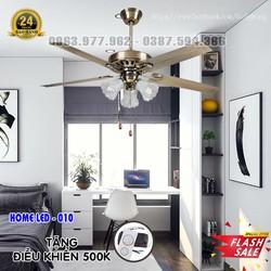 Quạt trần đèn hiện đại HOME-010 + Tặng kèm bộ điều khiển hiện đại 500K