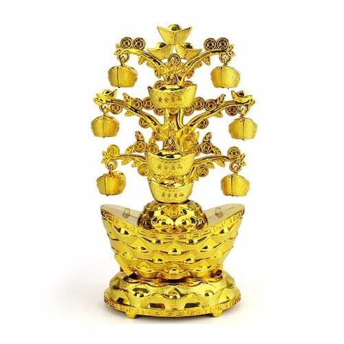 Cây Vàng Thỏi Phát Sáng Ngày Tết Bàn Thờ Thần Tài