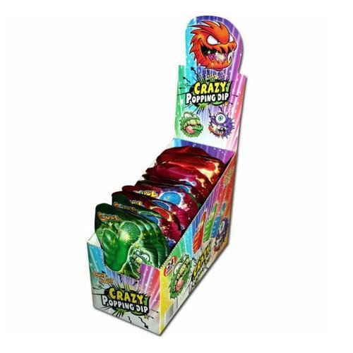 Kẹo mút nổ Crazy Popping Dip vị trái cây 18g – hộp 24 cái