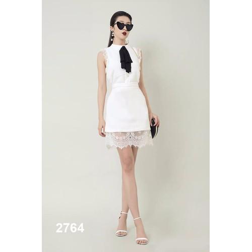 Đầm body trắng phối ren