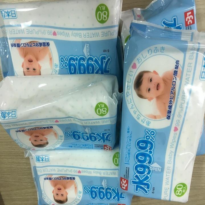 Combo 10 Khăn Giấy ướt Lec 80 Tờ Sản Xuất Nhật Bản 12300499