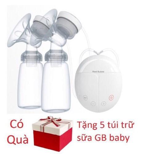 Máy hút sữa điện đôi Real Bubee tặng kèm 5 túi trữ sữa