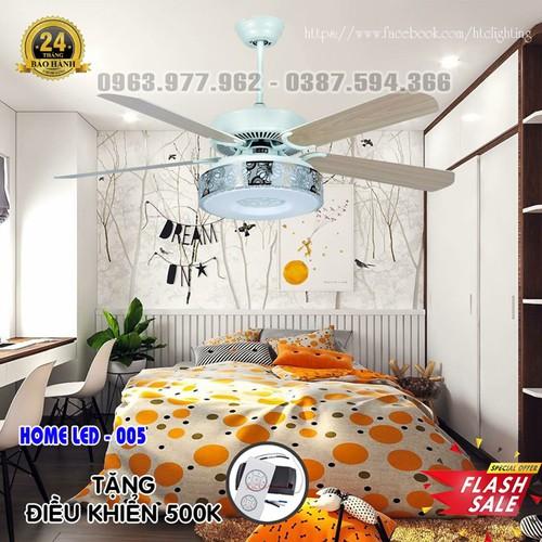 Quạt trần đèn hiện đại HOME-005 + Tặng kèm bộ điều khiển hiện đại 500K