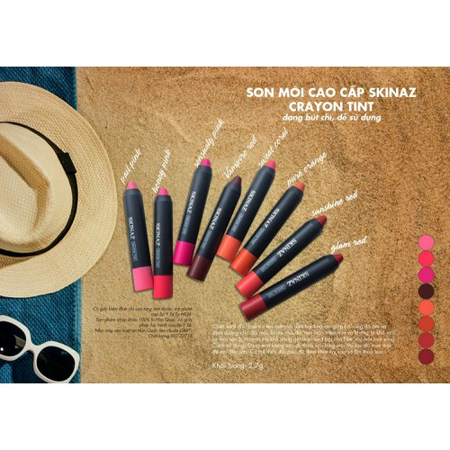 Son môi cao cấp Crayon Tint  Hàn Quốc  - 2,7g màu đẹp, lâu phai.