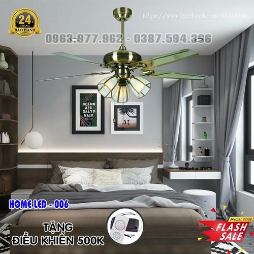 Quạt trần đèn hiện đại HOME-006 + Tặng kèm bộ điều khiển hiện đại 500K