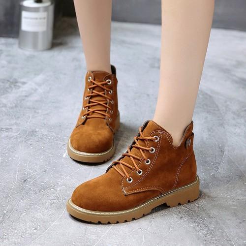 [ FREESHIP ] Giày bốt nữ cố thấp phong cách Hàn Quốc - XS0527