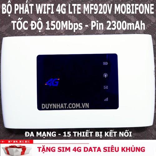 Bộ phát Wi-Fi di động 4G Mobifone ZTE MF920V