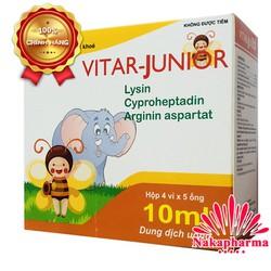 ✅ [CHÍNH HÃNG] Siro ăn ngon Vitar Junior dành cho bé biếng ăn, tiêu hóa kém, người lớn mệt mỏi, suy nhược cơ thể