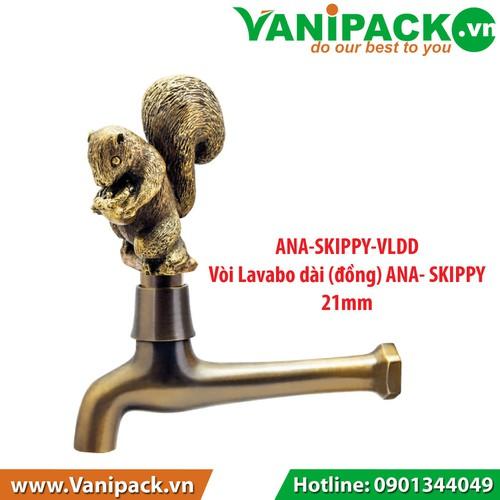 Vòi Lavabo dài đồng 21mm ANA-SKIPPY-VLDD