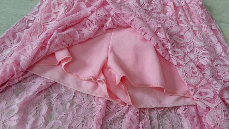 Jumsuit Ren Giả Váy Màu Hồng 5