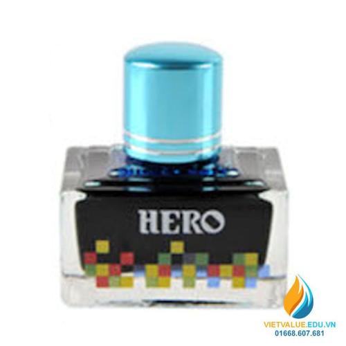 Mực Hero thường cho bút máy, 40ml, màu xanh mây trời mã 7101