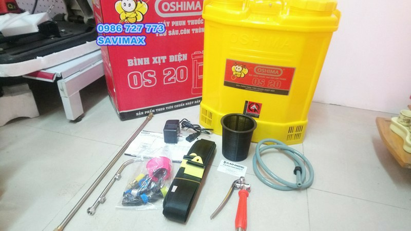 Máy phun thuốc trừ sâu OSHIMA OS20-Bình xịt điện oshima os20 2