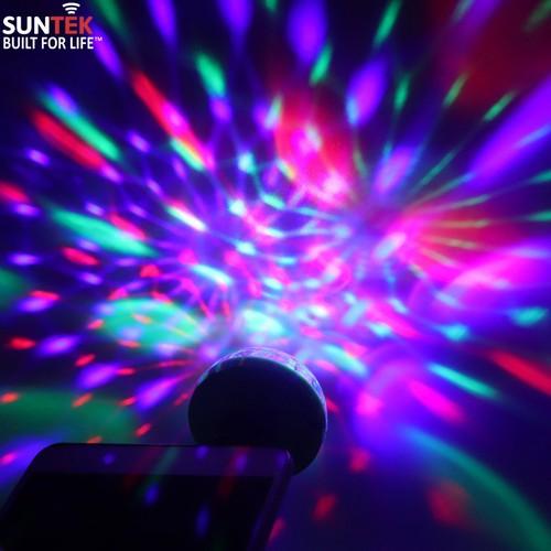 Đèn LED SUNTEK chiếu vũ trường mini cầm tay cảm ứng âm thanh