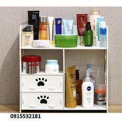kệ đựng mỹ phẩm -tủ đựng mỹ phẩm -hộp mỹ phẩm -kệ gỗ đầu giường
