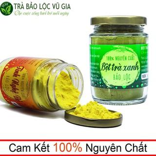 Bột Trà Xanh Nguyên Chất 100g + Tinh Nghệ Đỏ Nguyên Chất 100g - Vũ Gia - BTX100+TNDO100 thumbnail