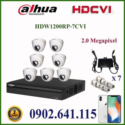 Trọn bộ 7 camera dahua 2MP