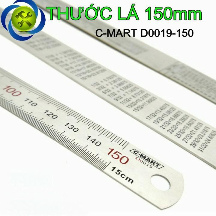 Thước lá C-MART D0019-150 150mm 1