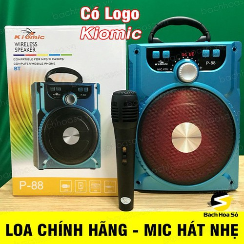 Loa karaoke bluetooth xách tay P88 Kiomic tặng kèm micro hát nhẹ - 11164114 , 12290815 , 15_12290815 , 350000 , Loa-karaoke-bluetooth-xach-tay-P88-Kiomic-tang-kem-micro-hat-nhe-15_12290815 , sendo.vn , Loa karaoke bluetooth xách tay P88 Kiomic tặng kèm micro hát nhẹ