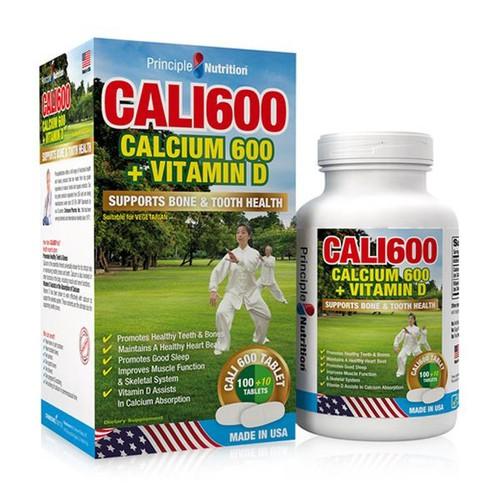 Viên uống bổ sung Canxi và Vitamin D 100 viên - Principle Nutrition