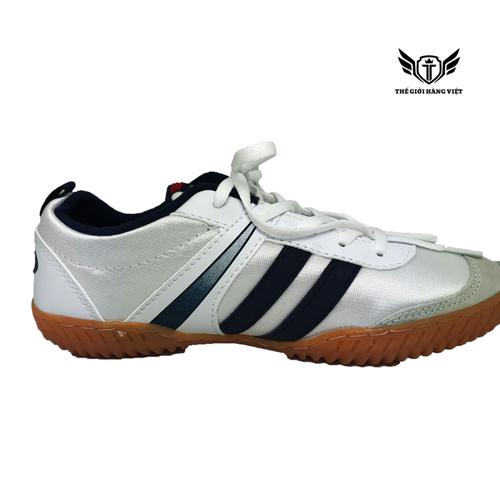 Giày Đá Bóng Vải FutSal Trắng Xanh Chí Phèo 004F