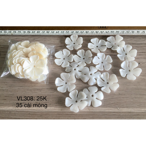 70 cánh hoa giả Ngọc trai loại mỏng