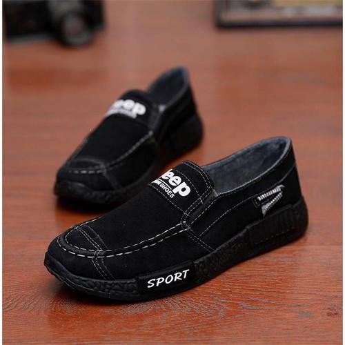 Giày lười nam-Giày nam vải bò