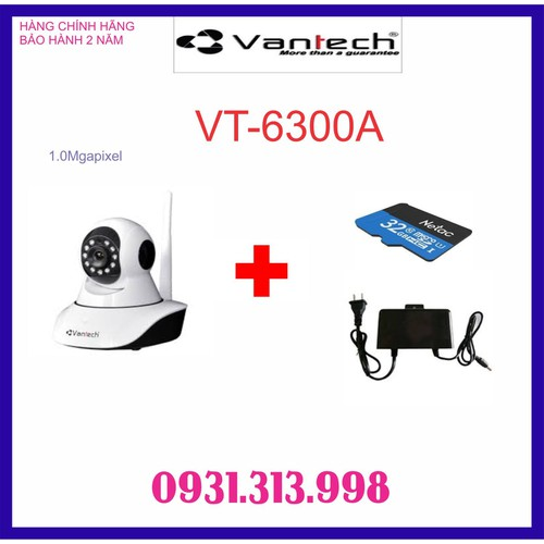 CAMERA IP WIFI VT-6300A TẶNG THẺ NHỚ 32GB