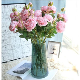 Hoa hồng giả cao cấp phong cách Châu Âu sang trọng - hoahongchauau002 thumbnail