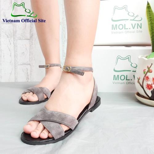 Giày sandal nữ quai chéo hiệu MOL MS190804G