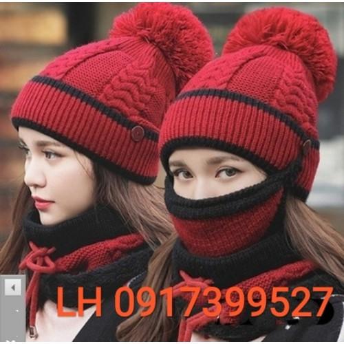 Nón mũ Len nữ tặng kèm khăn choàng khẩu trang y hình L12nlnu18 - 5816123 , 12302152 , 15_12302152 , 438000 , Non-mu-Len-nu-tang-kem-khan-choang-khau-trang-y-hinh-L12nlnu18-15_12302152 , sendo.vn , Nón mũ Len nữ tặng kèm khăn choàng khẩu trang y hình L12nlnu18