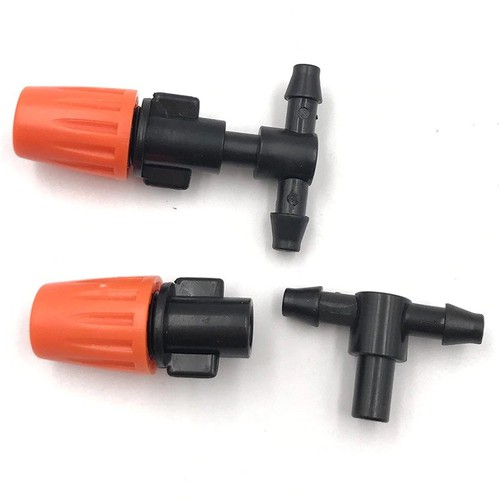 10 béc phun sương điều chỉnh được kèm chân tê kết nối ống 6mm