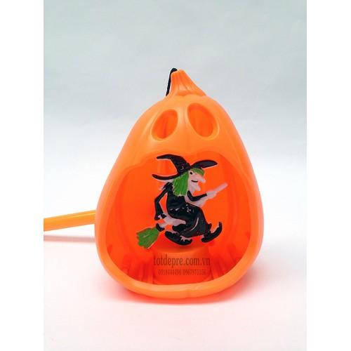 Đèn Lồng Halloween Có Đèn Có Nhạc Hình Phù Thủy