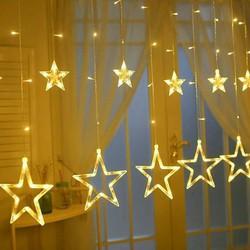 Đèn led  chớp nháy thả mành hình ngôi sao