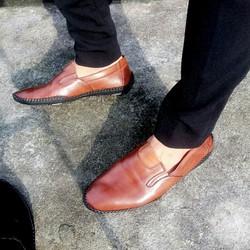 Giày mọi nam da bò thật - Phong cách mới lạ - Bảo hành 1 năm