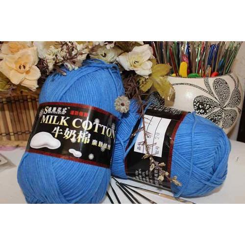 m57- Len milk cotton loại 1 cuộn 125gr