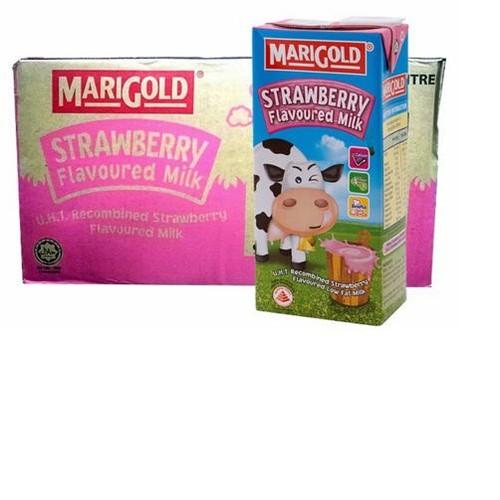 Sữa tươi hương dâu MariGold 200ml – thùng 24 hộp