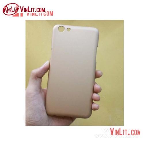 Ốp lưng Oppo F3  Oppo A77 cứng màu vàng