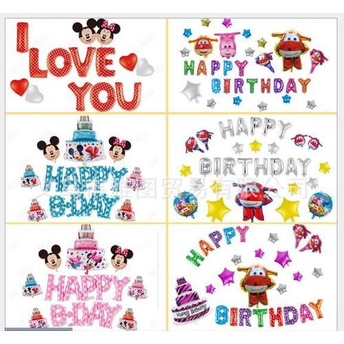 Set Bóng sinh nhật - chữ Happy birthday