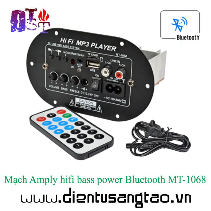 Mạch khuếch đại âm thanh hifi bass power Bluetooth MT-1068