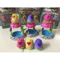 Combo 3 nhà hoa Hatchimals ss5 kèm trứng chính hãng Spin Master