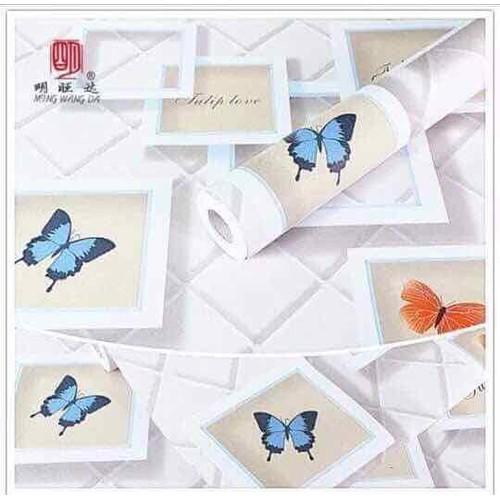 Giấy dán tường bươm bướm 3D 1 cuộn dài 10m rộng 45cm đã có keo sẵn - 5841290 , 12341714 , 15_12341714 , 130000 , Giay-dan-tuong-buom-buom-3D-1-cuon-dai-10m-rong-45cm-da-co-keo-san-15_12341714 , sendo.vn , Giấy dán tường bươm bướm 3D 1 cuộn dài 10m rộng 45cm đã có keo sẵn