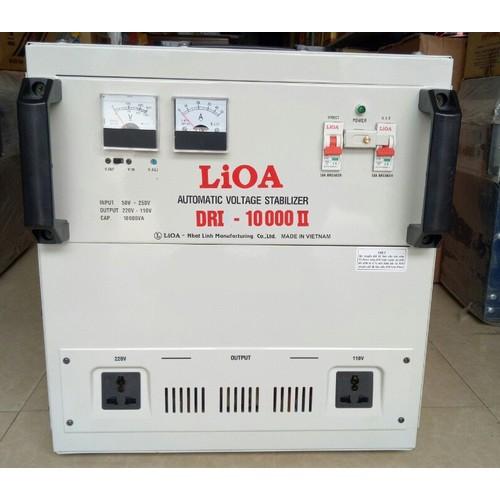 Ổn áp 1 pha LIOA DRI-10000 II 10kVA điện áp vào 90V-250V-Thế hệ mới